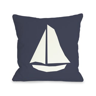 Vintage Sailboat Throw Pillow