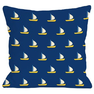Whimsical All Over Sailboat Throw Pillow