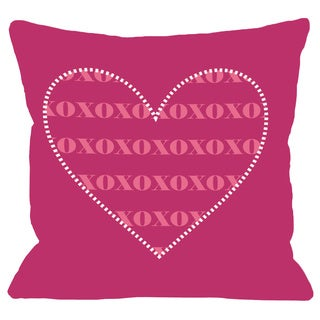 XOXO Heart  Throw Pillow