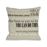 You Can Do This Throw Pillow