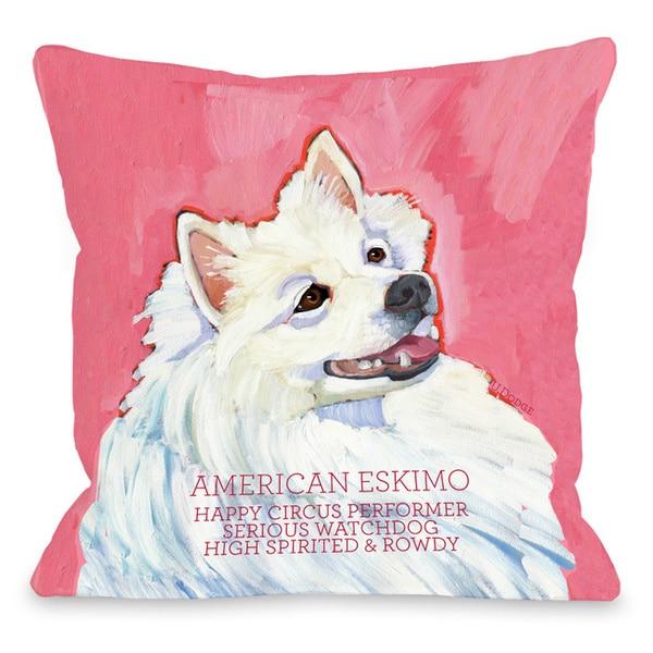 American Eskimo 1 Throw Pillow