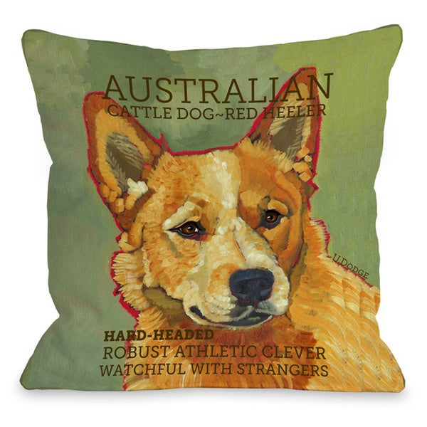 Australian Cattle Dog 2 Throw Pillow
