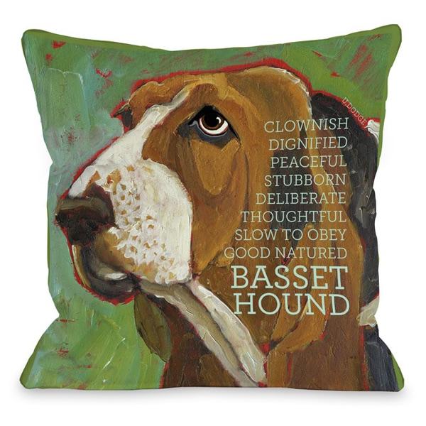 Bassett Hound Decorative Throw Pillow
