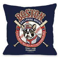 Boston Brew Throw Pillow