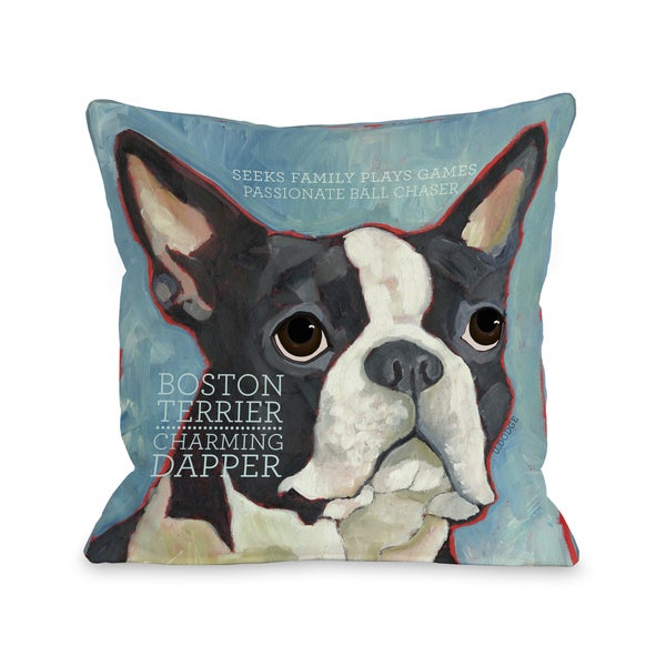 Shop Boston Terrier Throw Pillow On Sale Free Shipping On Orders Interesting Boston Terrier Decorative Pillow