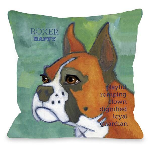 Boxer 1 Throw Pillow