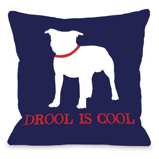 Bull Dog Drool is Cool Throw Pillow