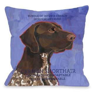 German Shorthair Dog Design Throw Pillow