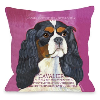 Cavalier Dog Design Throw Pillow