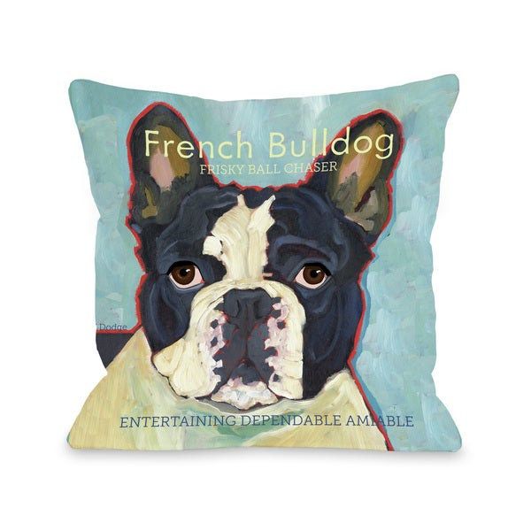 French Bulldog Dog Design Decorative Throw Pillow