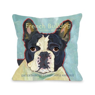 French Bulldog Dog Design Decorative Throw Pillow