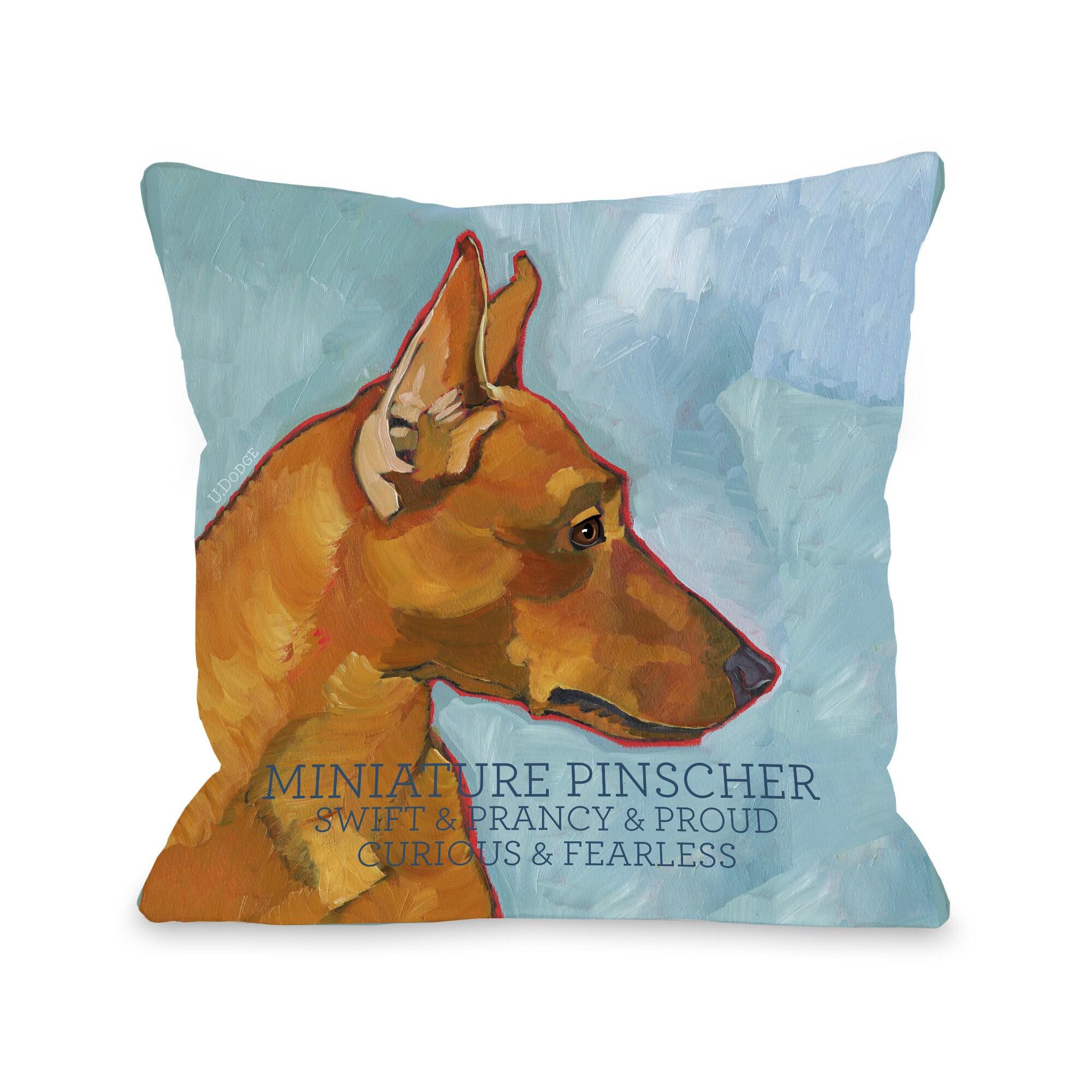 Miniature Pinscher Dog Design Throw Pillow (26 x 26 Pillo...