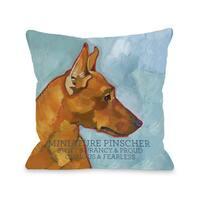 Miniature Pinscher Dog Design Throw Pillow