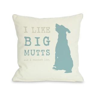 I Like Big Mutts Cream Throw Pillow