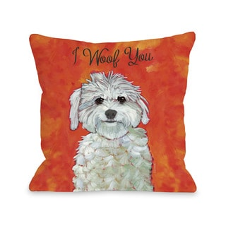 I Woof You Throw Pillow