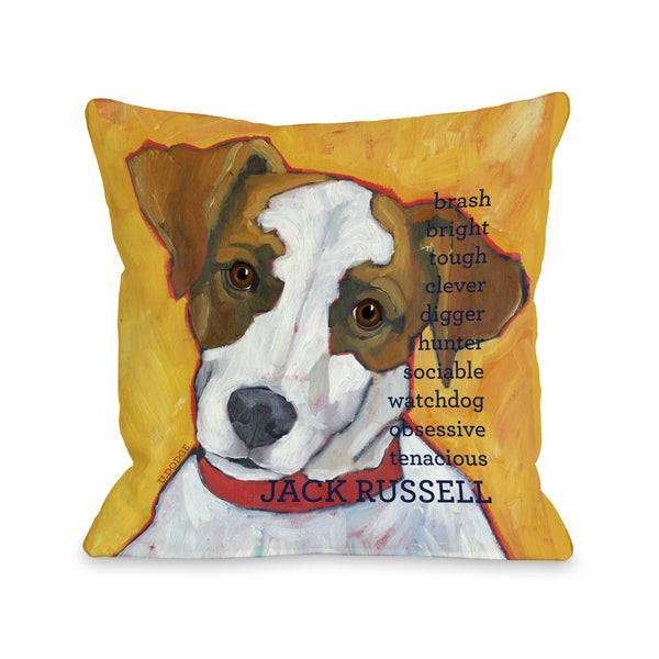 Jack Russell 2 Throw Pillow
