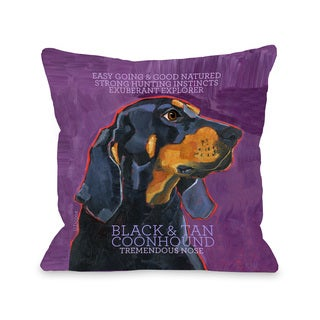 Coonhound 1 Throw Pillow