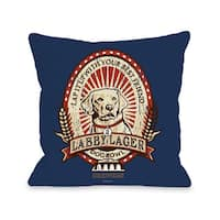 Labby Lager Throw Pillow