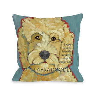 Labradoodle 1 Throw Pillow