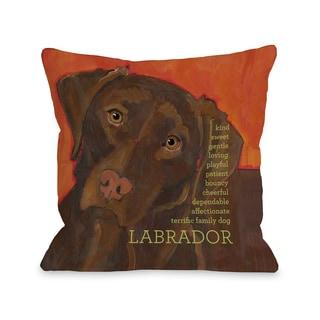 Labrador 2 Throw Pillow