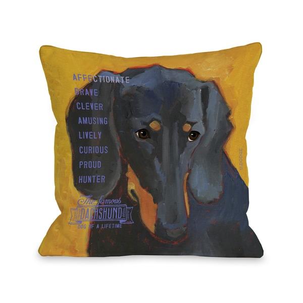 Daschund  Dog Desgin Throw Pillow