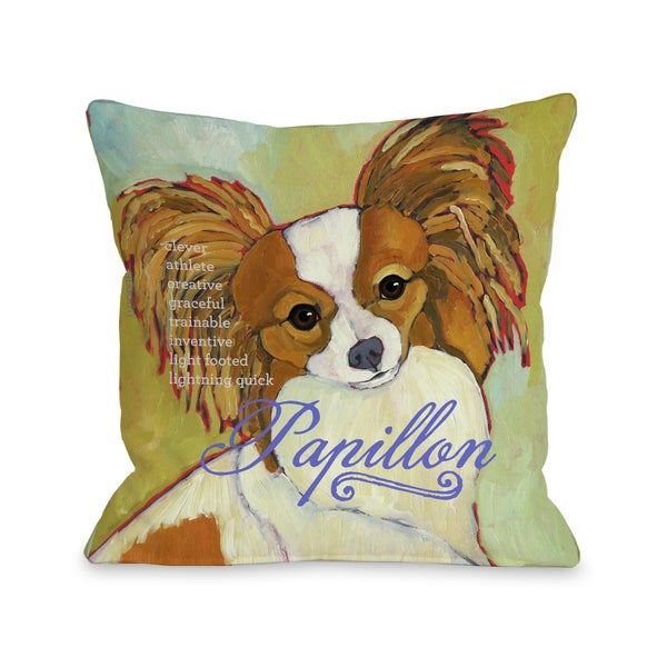 Papillion 1 Throw Pillow