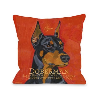 Doberman Decorative Throw Pillow
