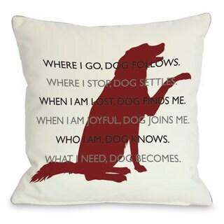 Dog.Codependent Throw Pillow