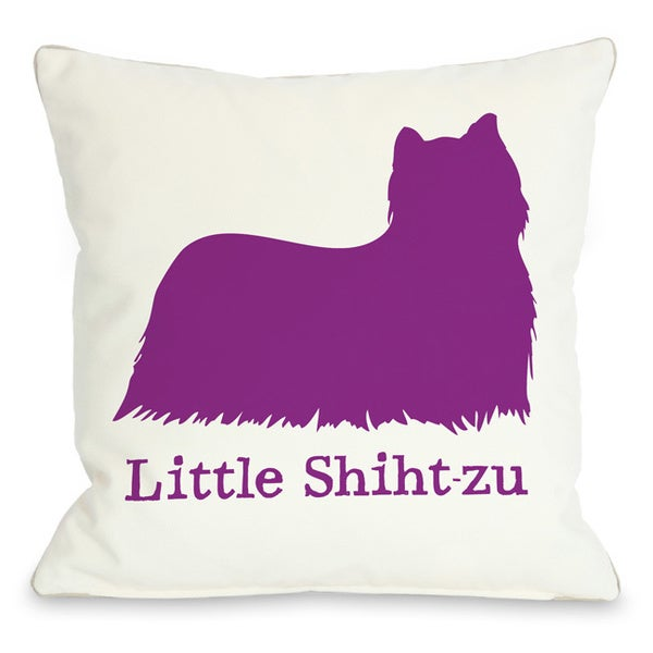 Little Shihtzu Throw Pillow