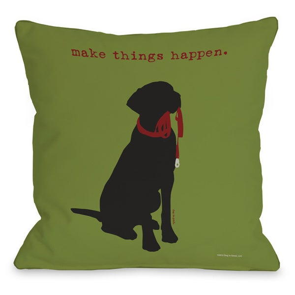 Make things Happen Throw Pillow - Free Shipping On Orders Over $45 - Overstock.com - 15736479