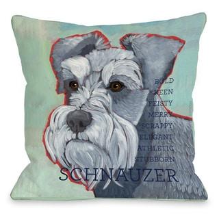 Schnauzer Dog Throw Pillow
