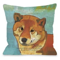 Shiba Throw Pillow