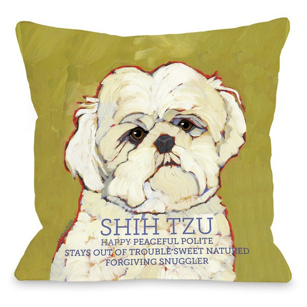 Shop Shihtzu Decorative Throw Pillow Free Shipping On Orders Over Mesmerizing Shih Tzu Decorative Pillows