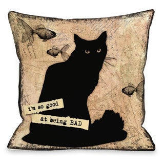 So Good at Being Bad Throw Pillow