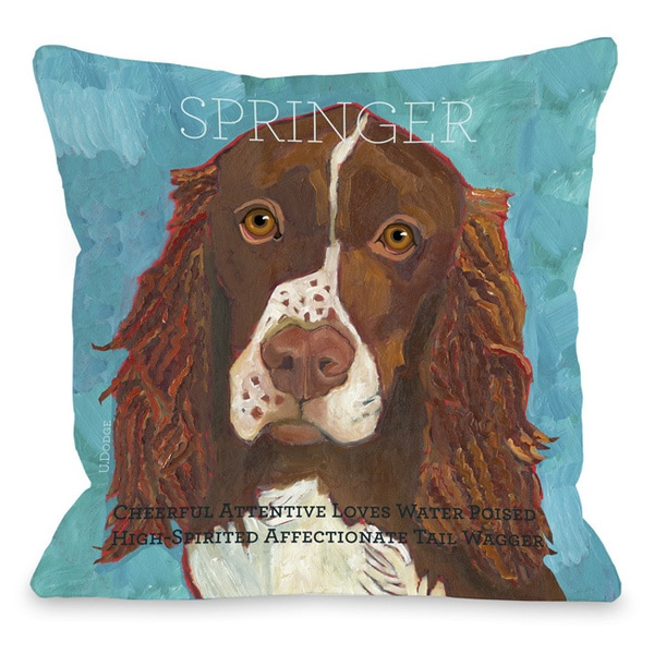 Shop Springer Dog Themed Throw Pillow On Sale Free