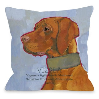 Vizsla Dog Throw Pillow