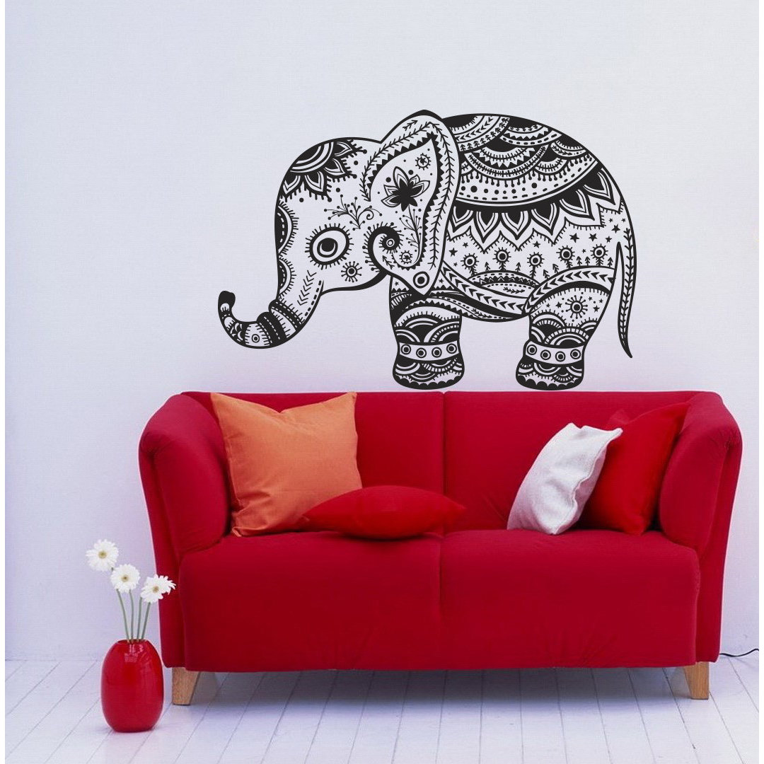 Vintage Indian Elephant Vinyl Wall Decal Overstock 8441627