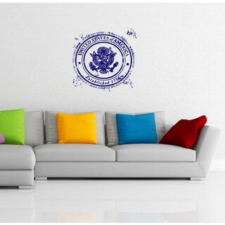 USA Seal Stamp Modern Vinyl Wall Decal
