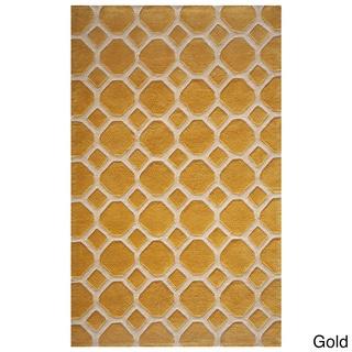 Momeni Bliss Gold Honeycomb Hand-Tufted Rug (5' X75'6)