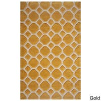 Momeni Bliss Gold Honeycomb Hand-Tufted Rug (5' X75'6) - 5' x 7'6""