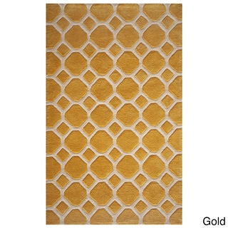 Momeni Bliss Gold Honeycomb Hand-Tufted Rug (8' X 10')