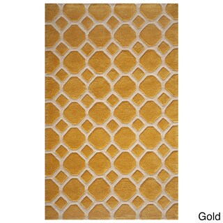 Momeni Bliss Gold Honeycomb Hand-Tufted Rug (8' X 10')