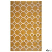 Momeni Bliss Gold Honeycomb Hand-Tufted Rug (8' X 10') - 8' x 10'
