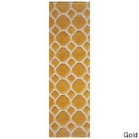 Momeni Bliss Gold Honeycomb Hand-Tufted Runner Rug (2'3 X 8') - 2'3 x 8'