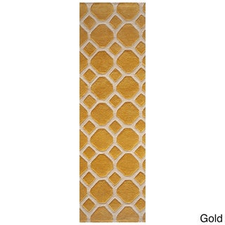 Momeni Bliss Honeycomb Hand-Tufted Runner Rug