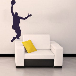Dunking Basketball Player Vinyl Wall Decal
