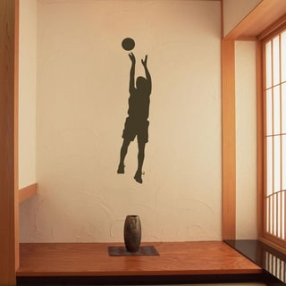Jumping Basketball Player Vinyl Wall Decal