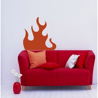 Beautiful Fire Flame Vinyl Wall Decal