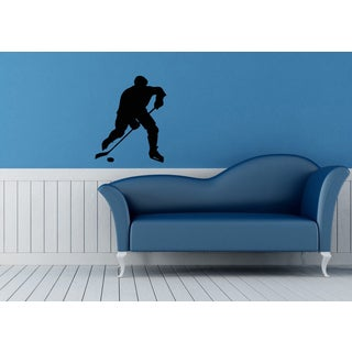 Hockey Player Vinyl Wall Decal