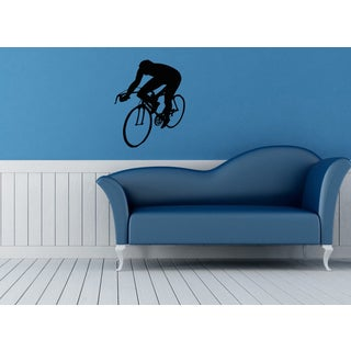 Man On A Bicycle Vinyl Wall Decal